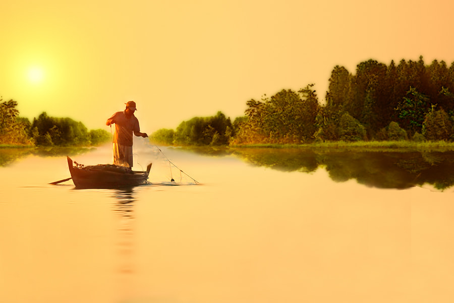 Photograph Fisherman by Uda Dennie on 500px