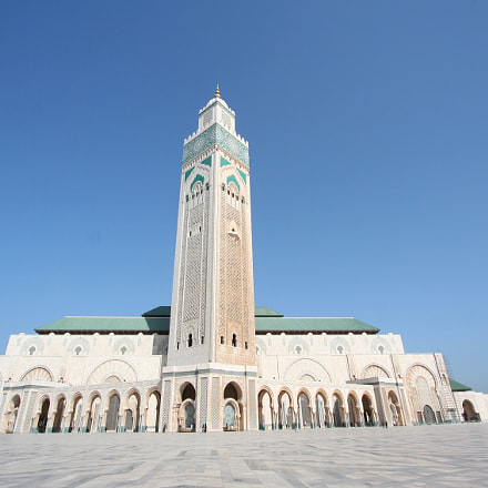 Hassan II Mosque, Canon EOS 350D DIGITAL, Canon EF-S 10-22mm f/3.5-4.5 USM
