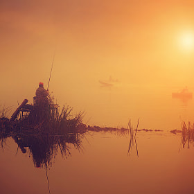 fishers on river in foggy morning by Sergiy Trofimov (sergeyit)) on 500px.com