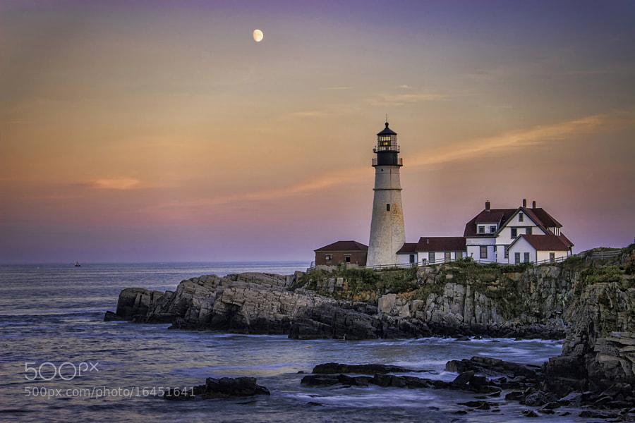 Portland Headlight is in Cape Elizabeth, Maine.