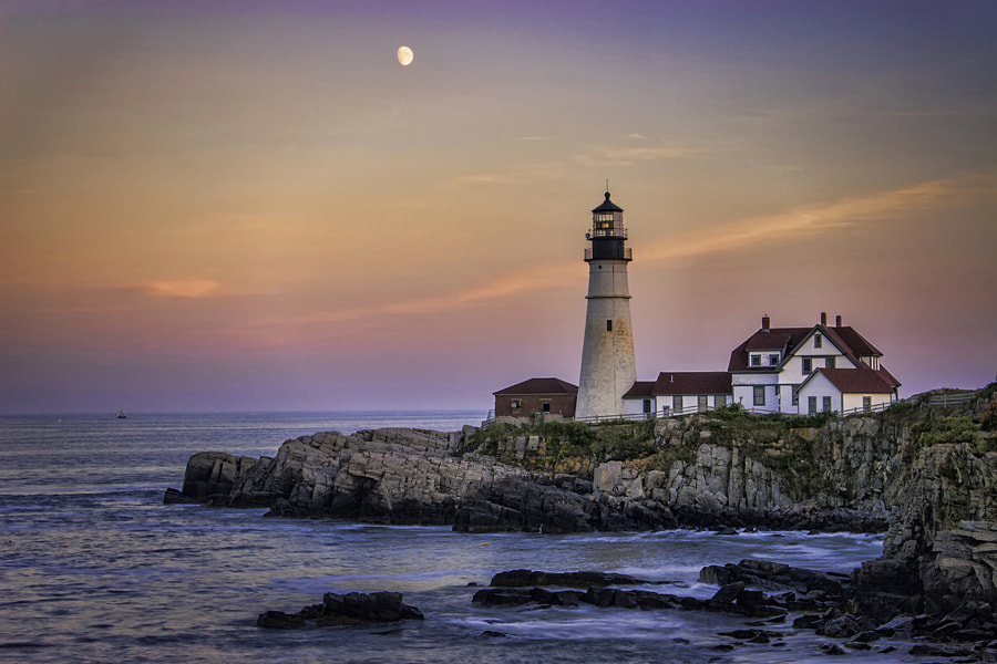 Portland Headlight is in Cape Elizabeth, Maine.
