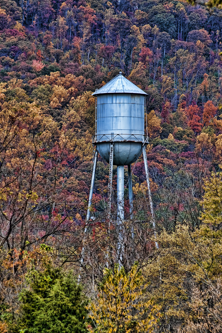 Photograph Water Tower in Iron Gate Va by Tom Hoover on 500px