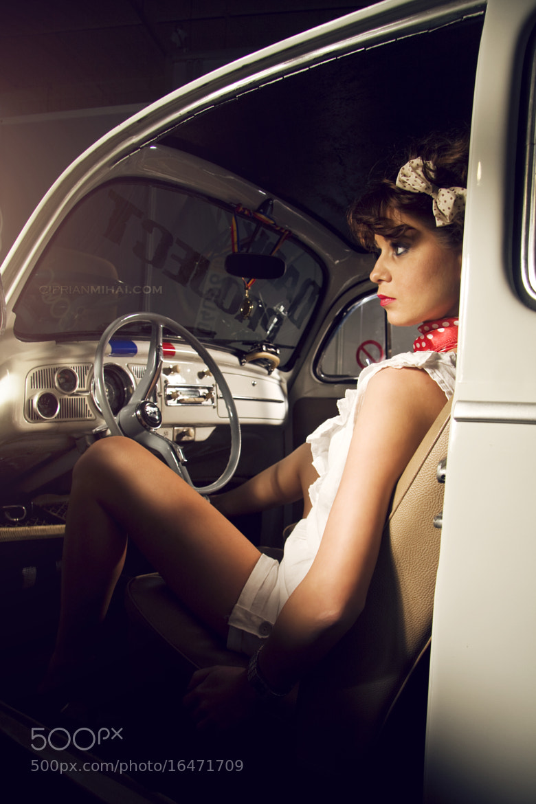 Photograph VWbeetle and girl by Ciprian Mihai on 500px