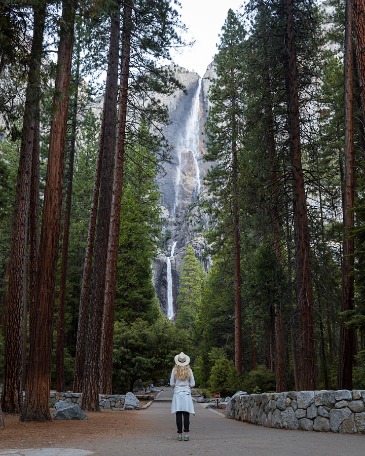 Yosemite Falls making everyone feel small with its 2,425 ft total fall by Oscar Nilsson