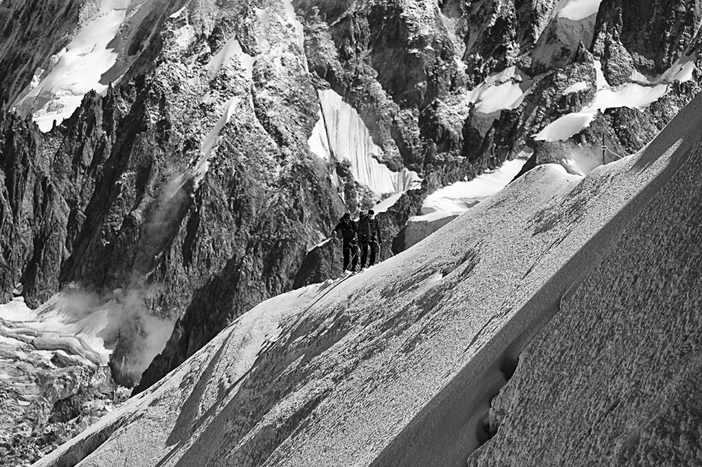 Photograph Aiguille du Midi - 2 Walkers by Jack Torcello on 500px