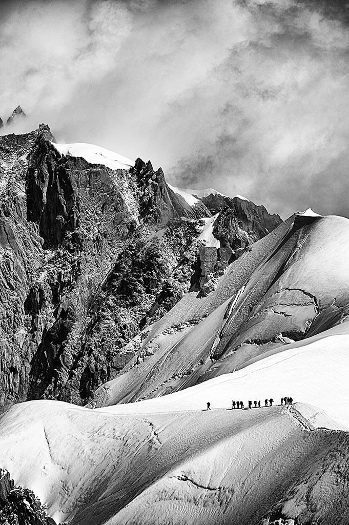 Photograph Ice Walkers I - Aiguille du Midi Chamonix France by Jack Torcello on 500px