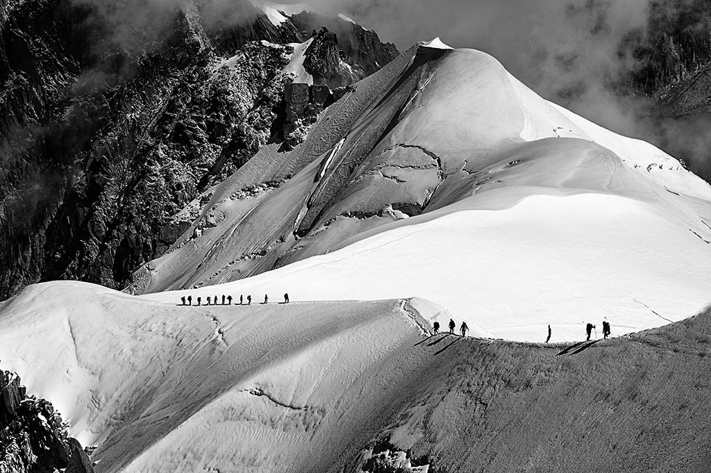 Photograph Ice Walkers II - Aiguille du Midi, Chamonix by Jack Torcello on 500px