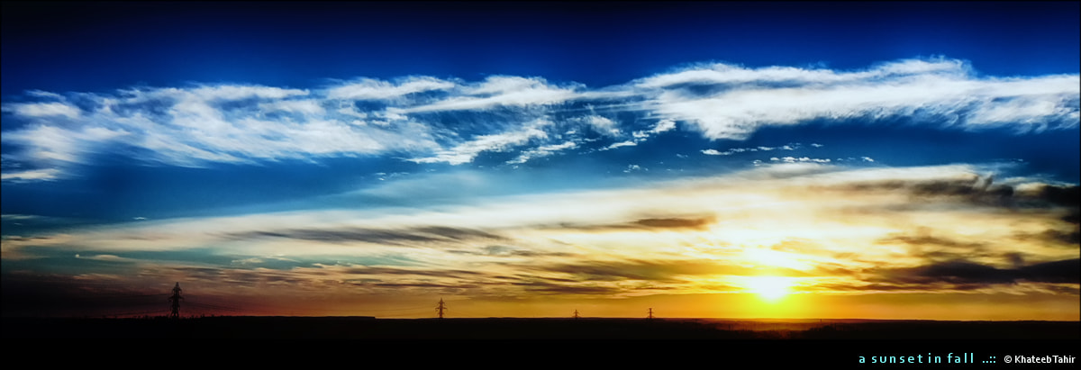Photograph A Sunset in Fall by Khateeb Tahir on 500px