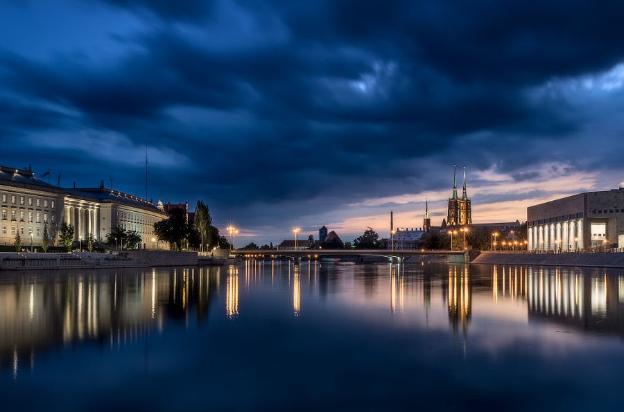 Stormy clouds over Wroclaw