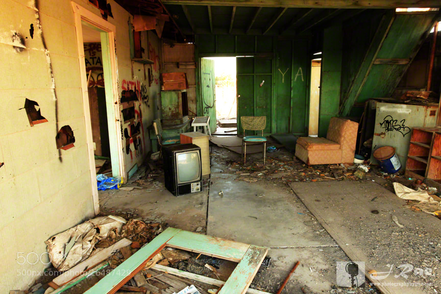 Photograph Humans Were Here 7: Abandoned Living Room by J Rae on 500px
