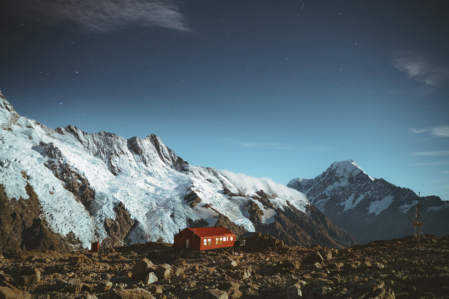 Moon lit nights in the Southern Alps by Jason Charles Hill