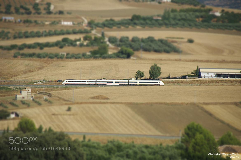 Photograph Train - Tilf  shift by Andrés J. Márquez on 500px