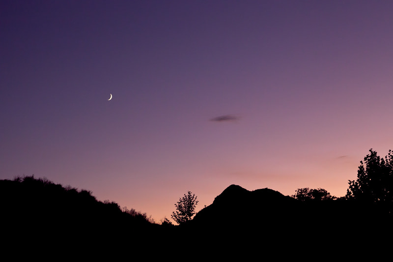 Photograph Evening Crescent Moon by Ken Ford on 500px