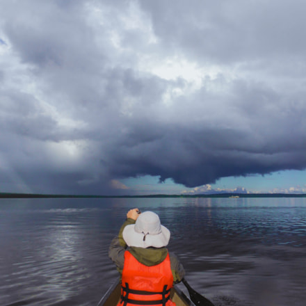 Paddling into the storm, Fujifilm FinePix XP170
