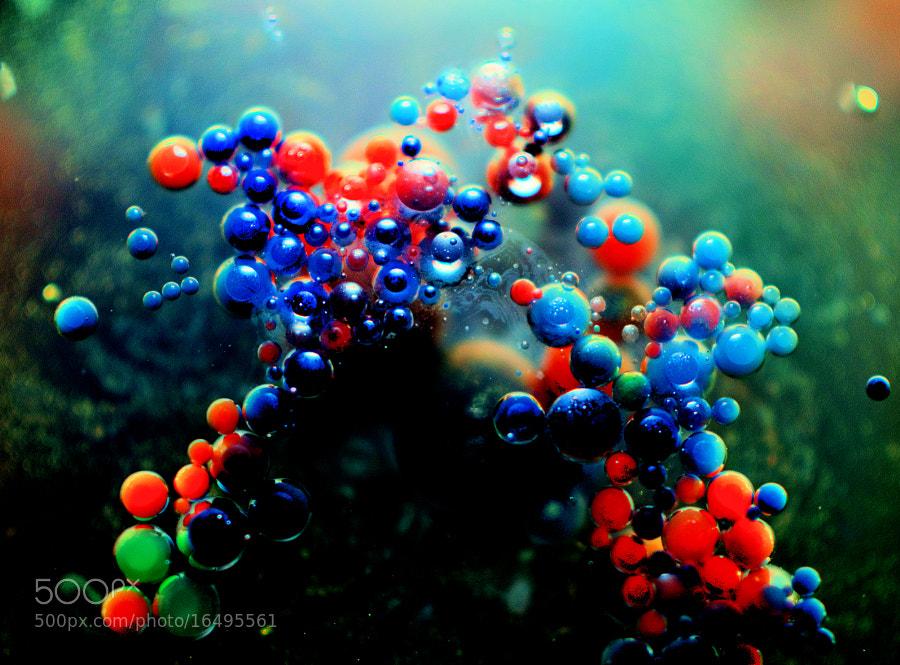 RGB drops in oil