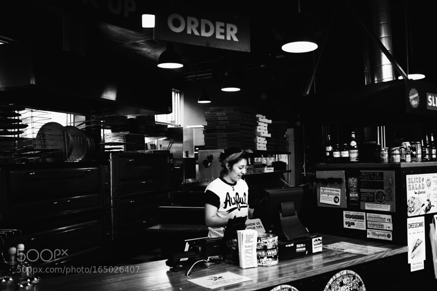 Smiles at the counter
