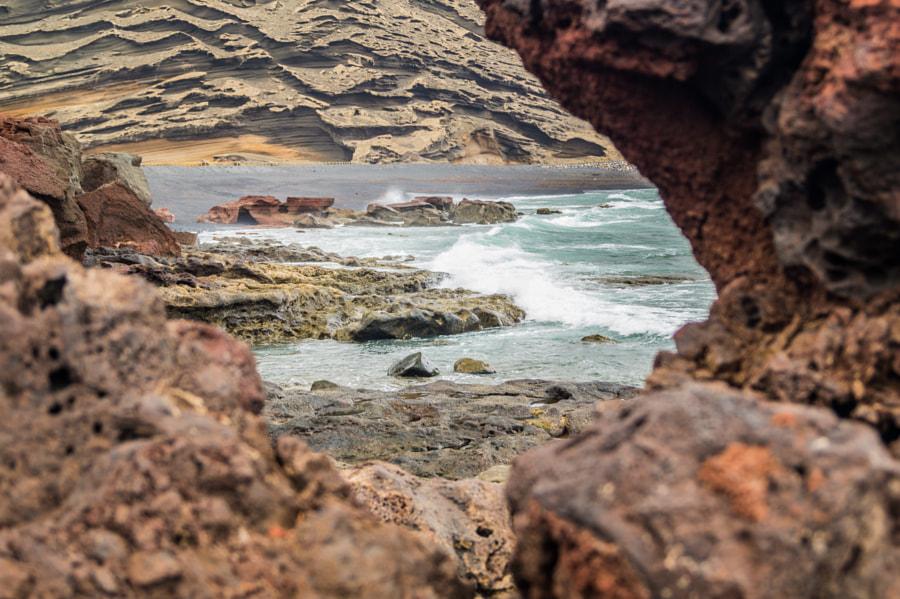 View through Waves & Rocks