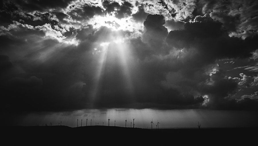 Windmills in the Afternoon Sun (b/w) by Son of the Morning Light on 500px.com