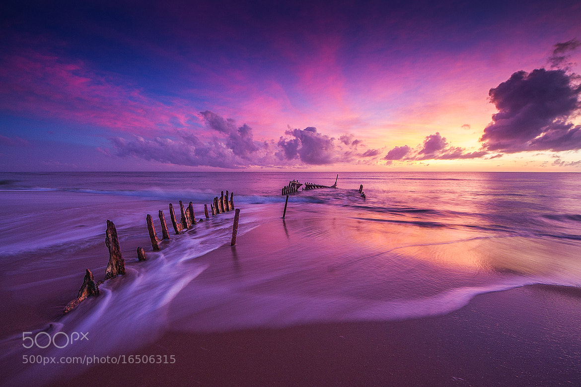 Photograph Shipwrecked SS Dicky | Caloundra QLD by Dan Glindemann on 500px