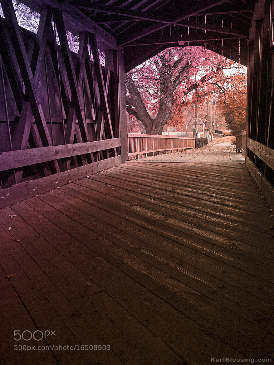 Photograph Covered Bridge - Toned by Karl Blessing on 500px