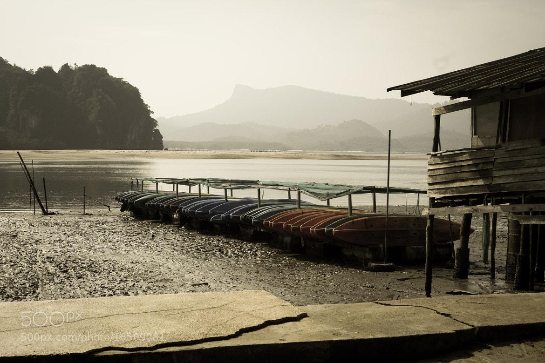 "Photograph kayak ""parking lots"", Krabi Thailand by Daniel Choo on 500px"