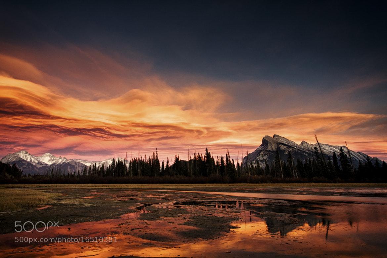 Photograph Sunset over Vermilion Lakes, Banff by Jai Honeybrook on 500px