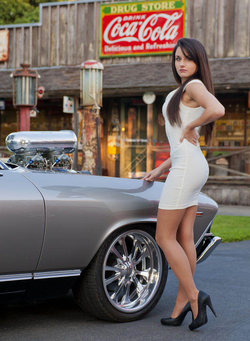 Photograph Emily with 1967 Chevelle by Richard  Small on 500px