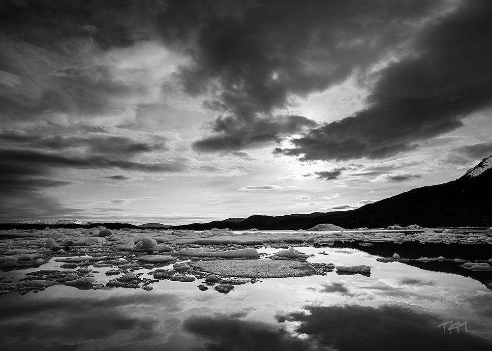 Photograph Mendenhall Lake Monochrome by Kent Mearig on 500px