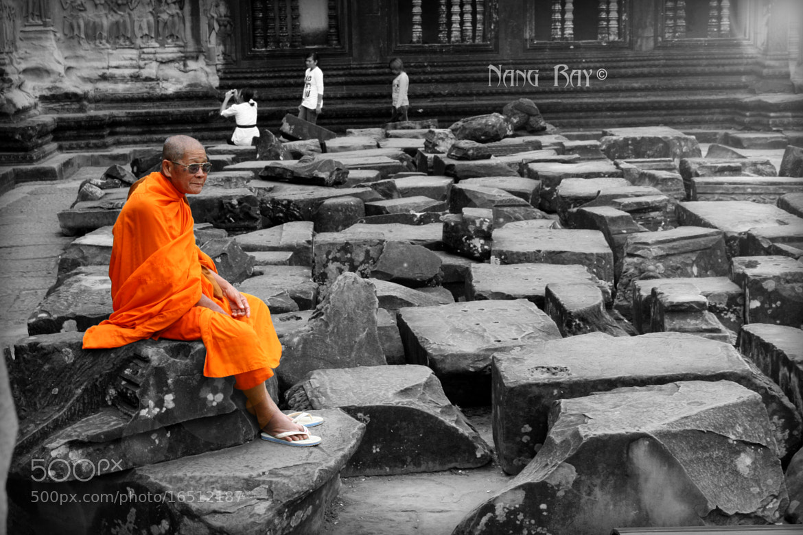 Photograph Cambodian Monk by Nang Ray on 500px