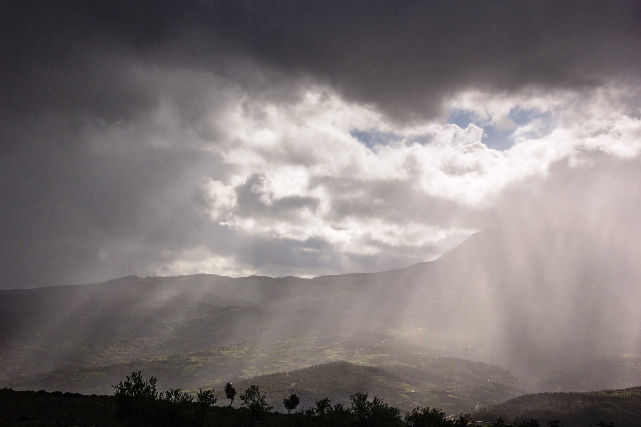 Rain above the mountains