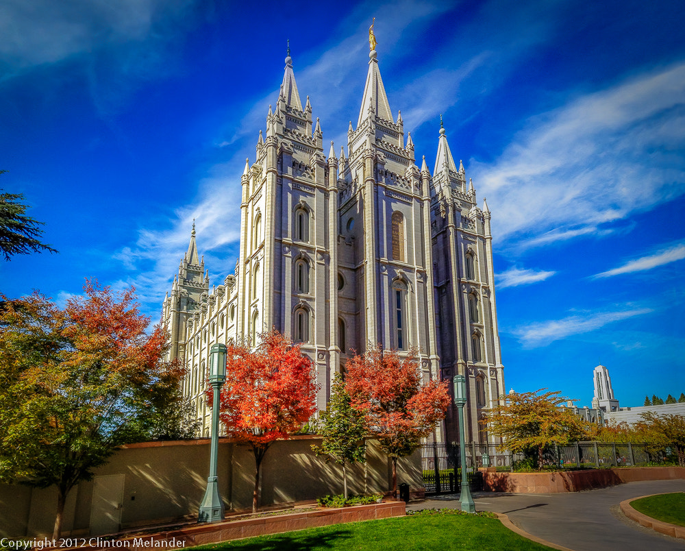 Photograph iPhone 4s Salt Lake Temple from Plaza by Clinton Melander on 500px