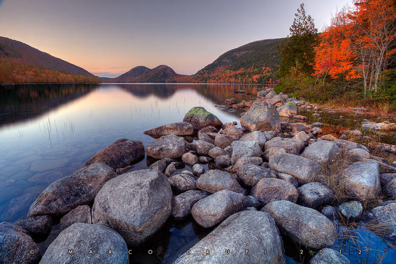 Photograph Jordan Pond Fall colors by Marco Crupi on 500px