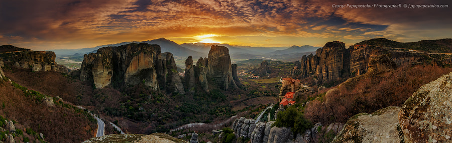 Meteora panorama by George Papapostolou on 500px.com