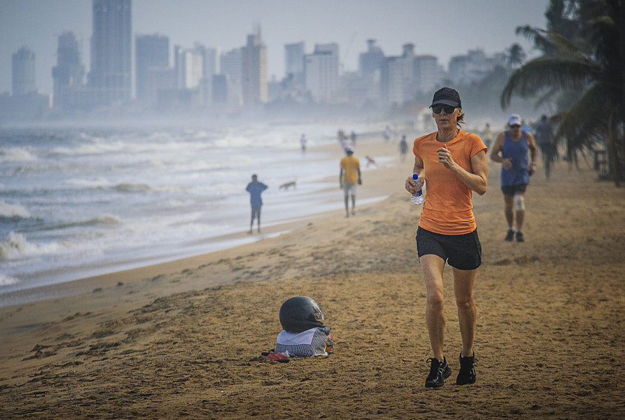 Morning Jog on Mt Lavinia Beach, Sri Lanka by Son of the Morning Light on 500px.com