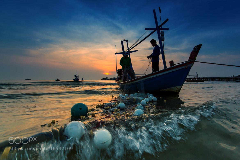 Photograph Fisherman life Huahin beach Thailand IV by Arthit Somsakul on 500px