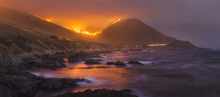 Big Sur Wildfire by Kevin Doty on 500px.com
