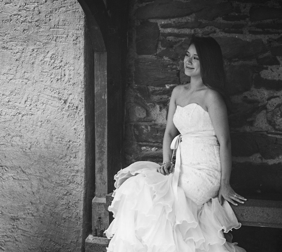 The Bride at Burg Eltz (b/w) by Son of the Morning Light on 500px.com