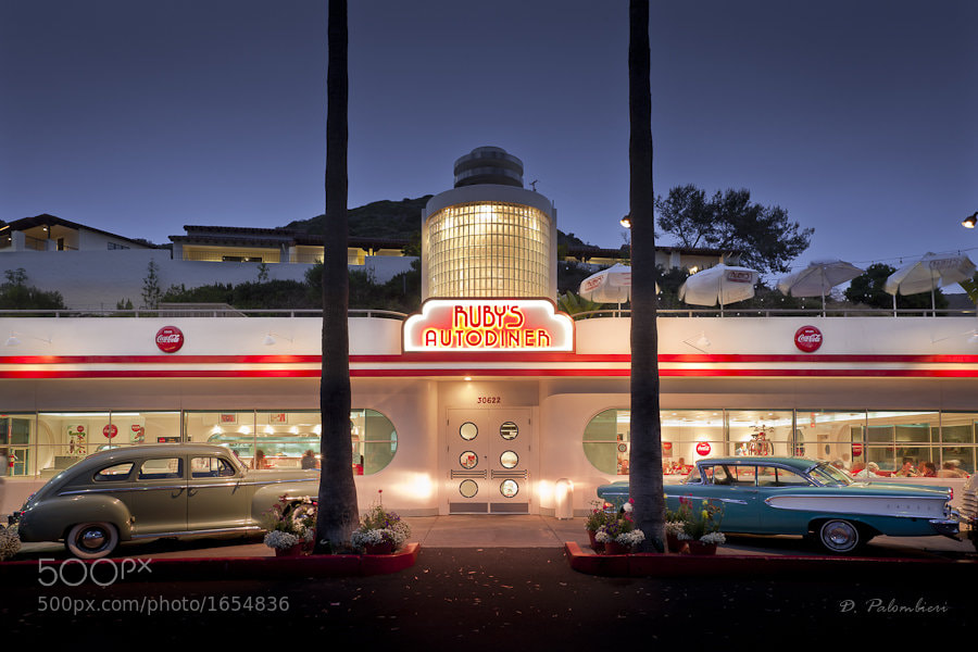 Photograph Ruby's Autodiner - Laguna Beach - CA by Dominique  Palombieri on 500px
