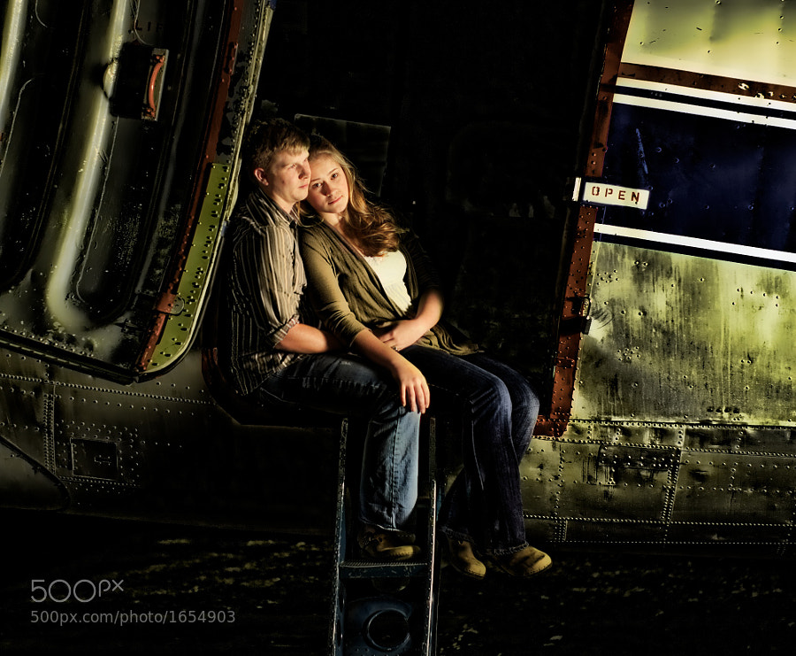 Katie and Adam in a Douglas DC-3 from Remote Area Medical, Downtown Island Airport, Knoxville, Tennessee
