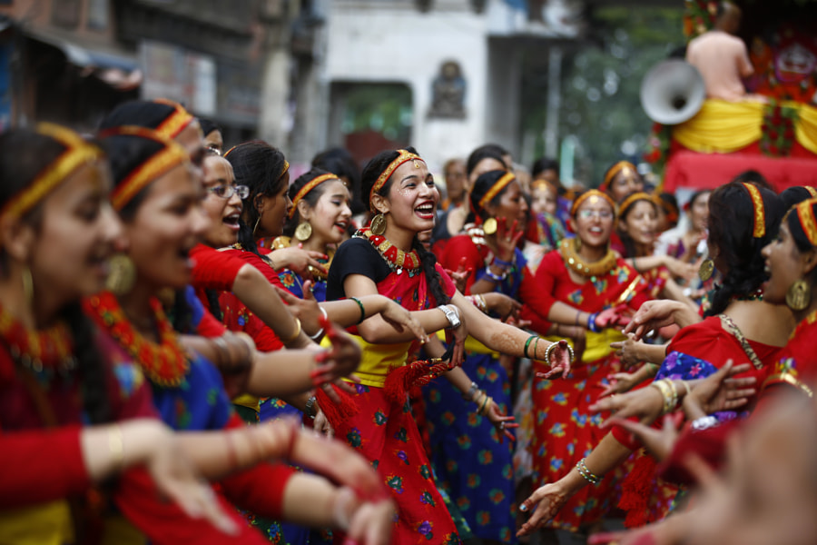 Dance and Sing Jagannath Chariot Festival in Nepal by Skanda Gautam on 500px.com