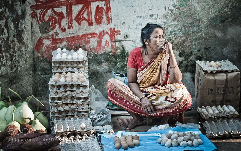 Photograph Egg seller by Saptarshi Roy on 500px