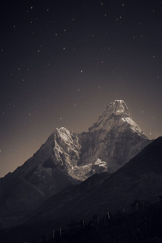 Photograph Ama Dablam (6,856 m) in the fullmoon light by Anton Jankovoy on 500px