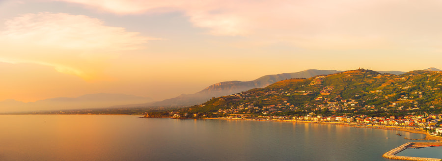Agropoli at Sunset by Joe Schmied on 500px.com
