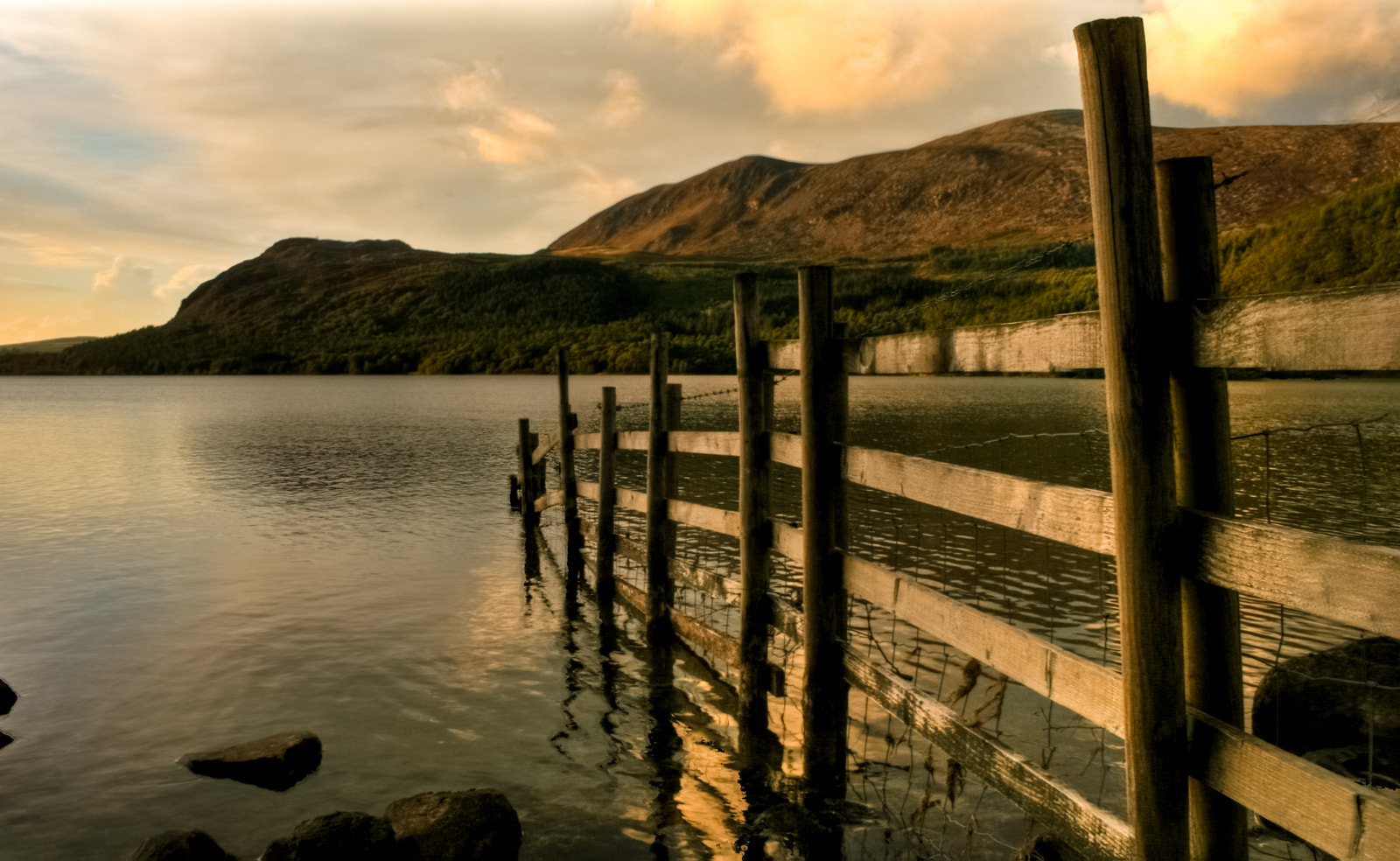 Photograph Fence in Ennerdale Water, Cumbria by Derek Σωκράτης Finch on 500px