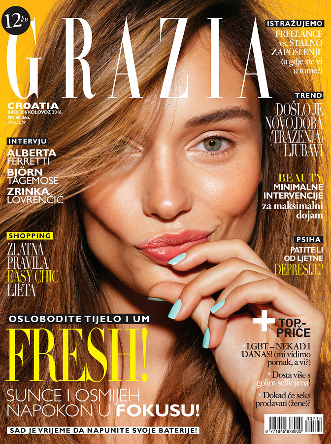 Grazia beauty editorial