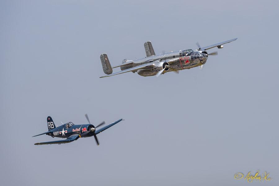 F4U Corsair and B25 Mitchell