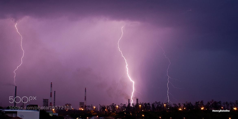 Photograph lightning at factory by Henry Botelho on 500px