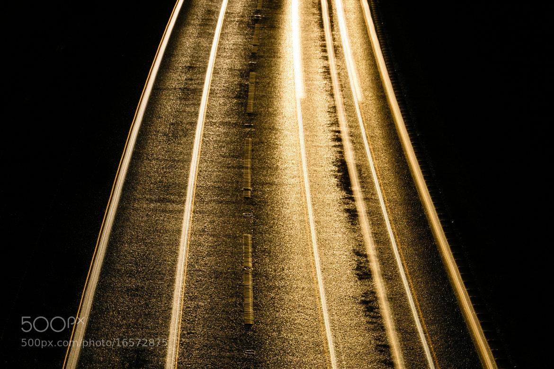 Photograph Night Traffic Light Trails by Derek Σωκράτης Finch on 500px