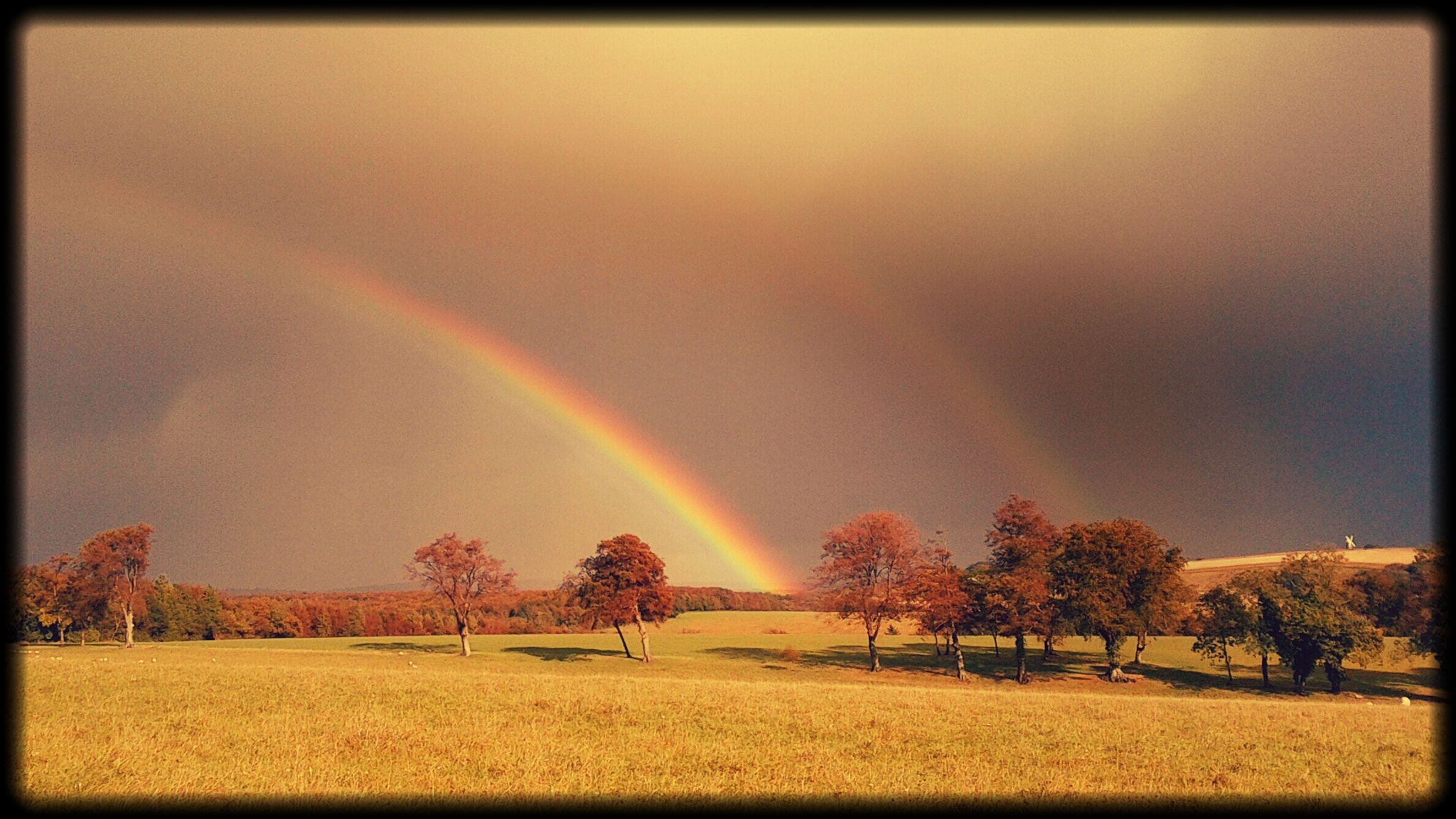 Photograph Double Rainbow over Halnaker windmill by Derek Σωκράτης Finch on 500px