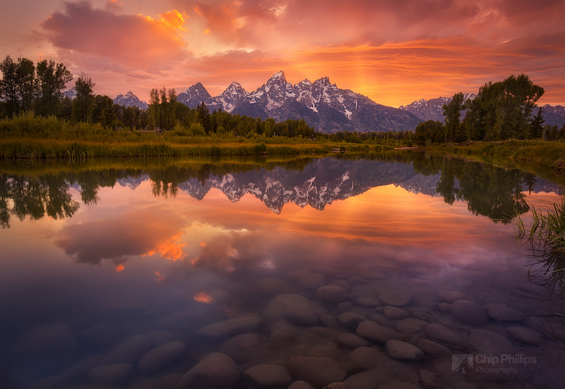 Photograph Schwabacher Sunset, Grand Tetons by Chip Phillips on 500px